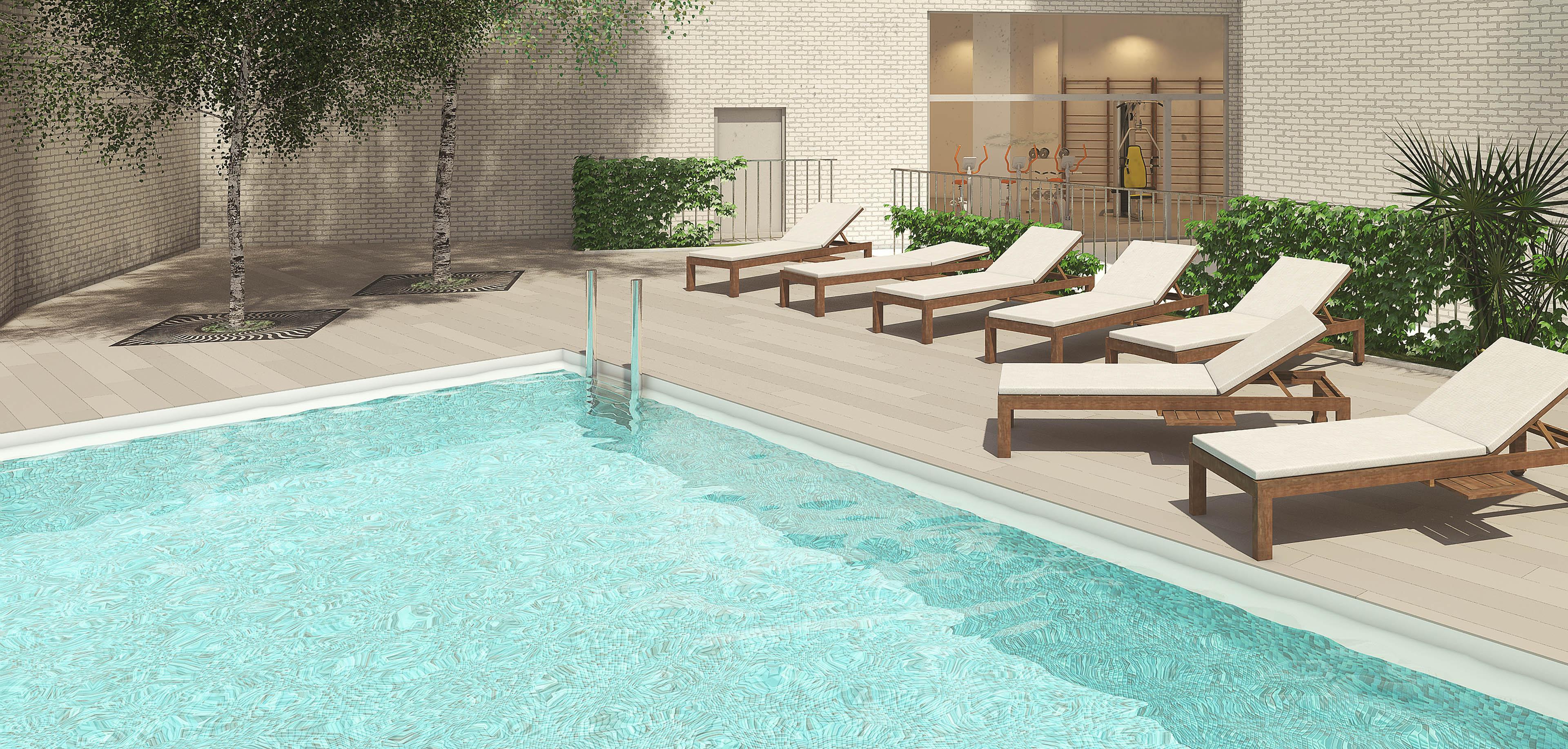 Edificio torre patraix vivienda nueva valencia salvador vila for Gimnasio y piscina